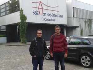 Professors de l'IES Manacor al centre BBZ de Rendsburg (Alemanya).