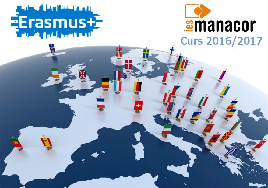 Erasmus-map