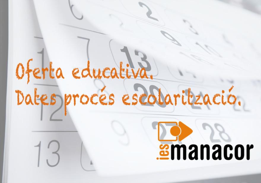 oferta educativa proces escolaritzacio