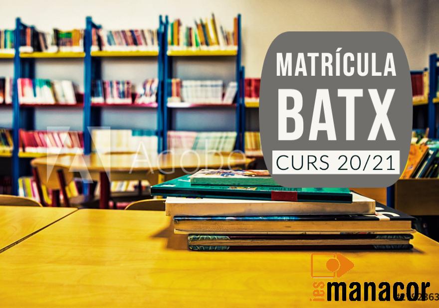 Matricula Batxillerat2