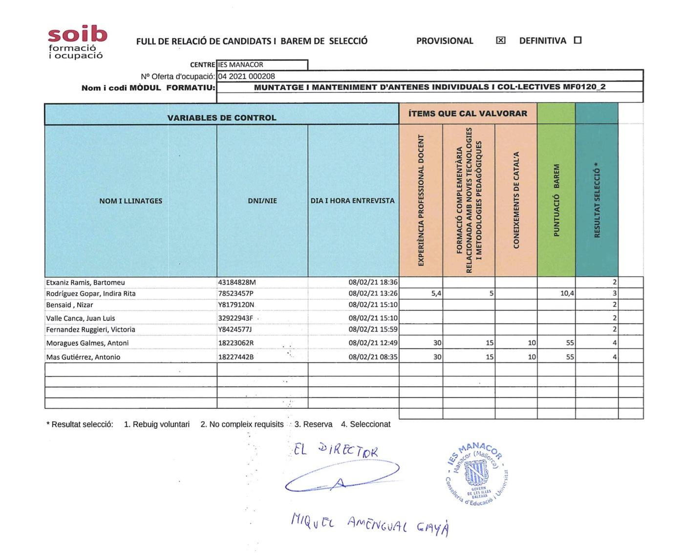 BAREM SELECCIÓ FORMADORS MF0120_2